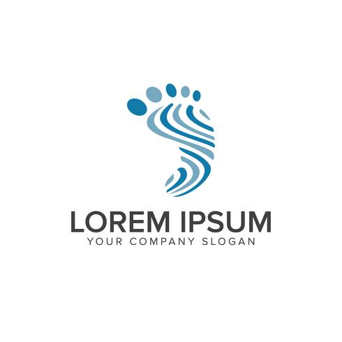 Been voetafdruk mensen logo ontwerpsjabloon concept