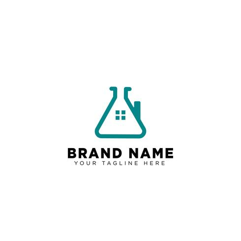 home laboratory logo template vector icon element
