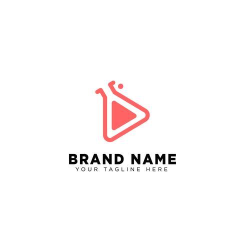 media tube logo template vector illustration icon element