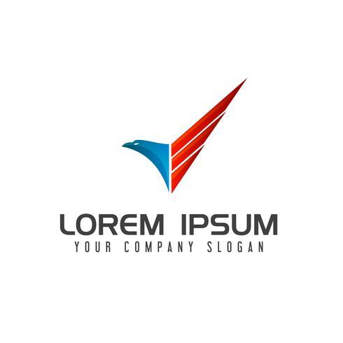 modèle de concept de conception logo aigle