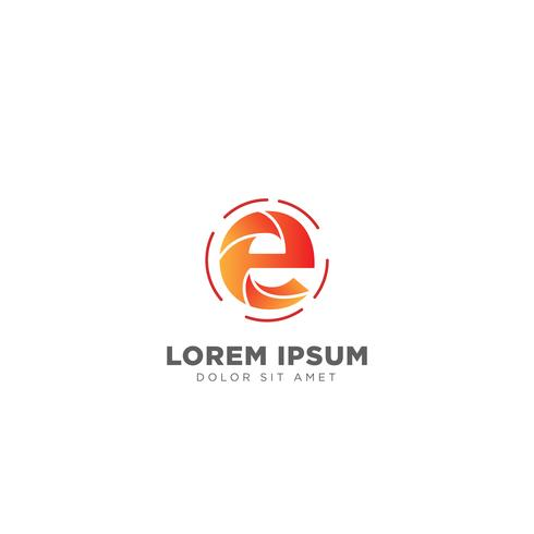 illustrazione di vettore del modello di progettazione di logo della lettera E per la marca di affari