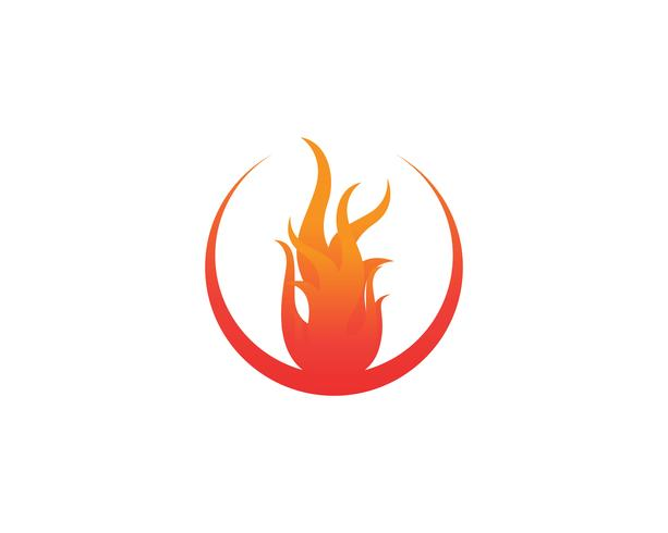 Fire logo and symbols template icons app vector