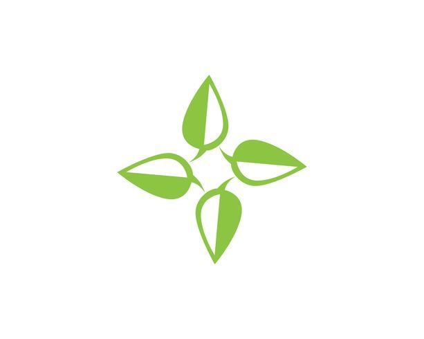 grön blad ekologi naturelement vektor ikon ..