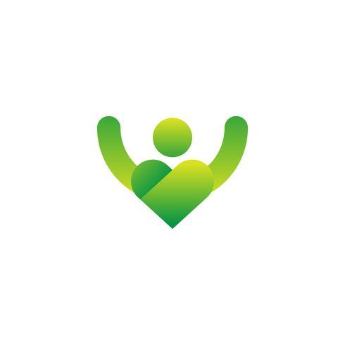 human icon logo design template vector illustration