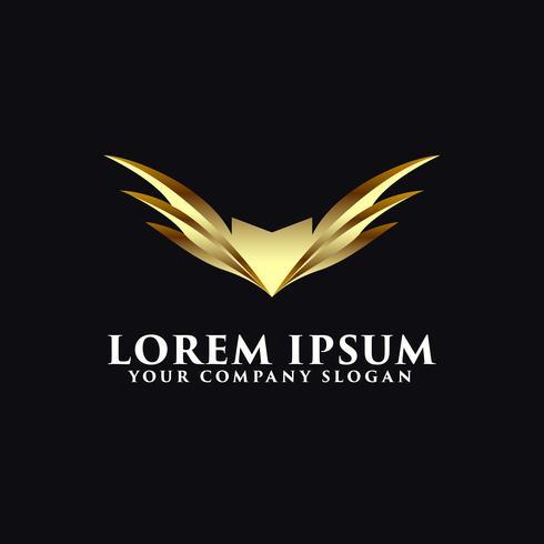 modèle de concept design ailes luxe ailes logo vecteur