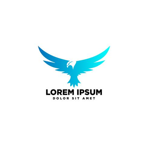 flying eagle bird logo template vector illustration and inspiration
