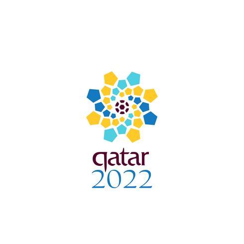 logo oficial de la copa del mundo 2022 en qatar vector diseño símbolo o icono