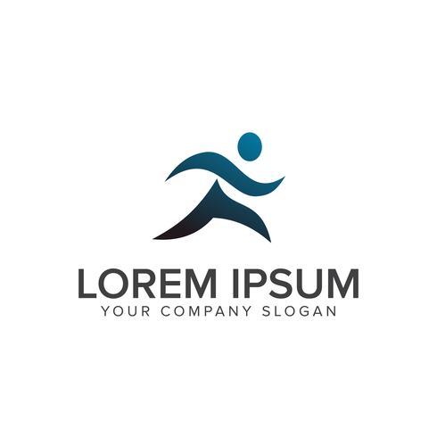 Laufen Menschen Menschen Logo-Design-Konzept-Vorlage