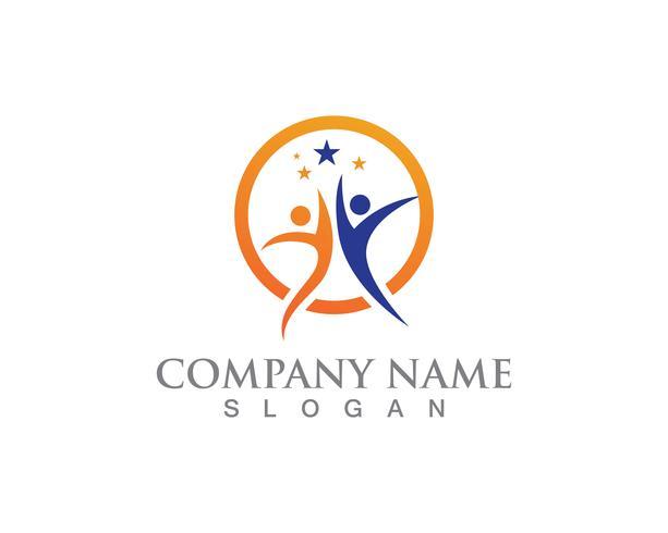 Diseño del ejemplo del icono del vector de Logo Success Template del vector de la gente