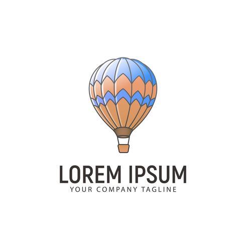 modèle de concept de conception logo ballon air chaud
