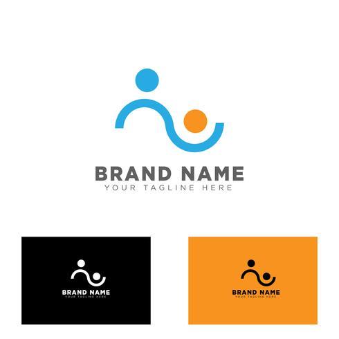 community group logo design template vector illustration