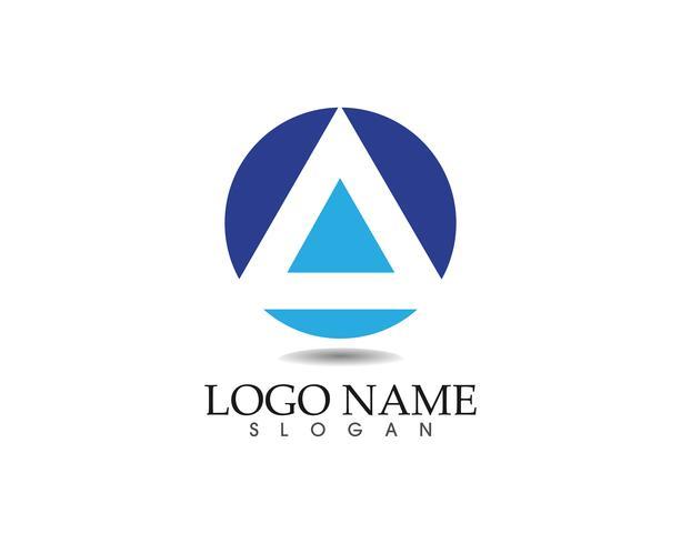 Business abstrakt logo design mall ikoner app