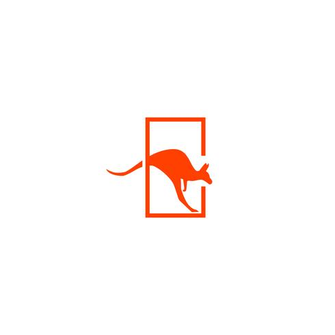 Känguru Logo Design Vektor Icon Illustration Element