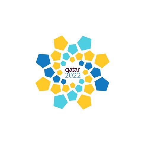 logo officiel coupe du monde 2022 dans le symbole du design vectoriel qatar ou une icône