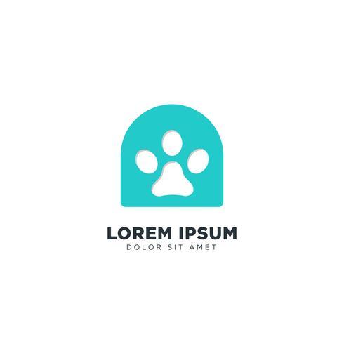 Chien Logo Line élément de design concept vecteur icône isolé