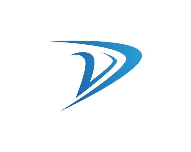 Diseño del ejemplo del icono del vector de la plantilla de D