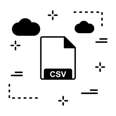 Icona di vettore CSV