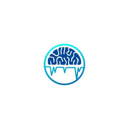 brain technology logo template vector illustration icon element isolated