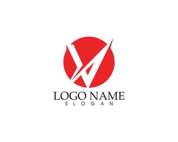 Plantilla de logotipo y símbolos de negocios de letras V vector