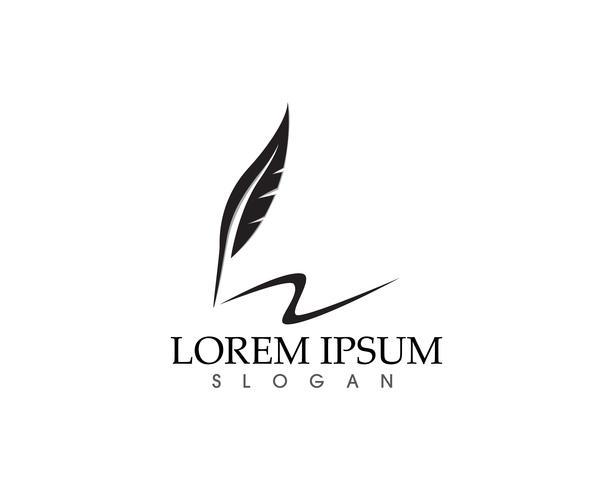 Pluma pluma escribir signo logo plantilla aplicación