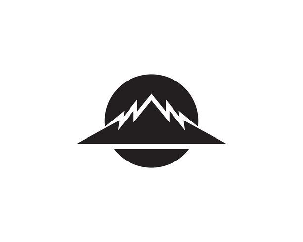 Mountain Logo Business Template Vector iconos de la aplicación ..