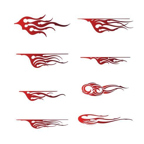 Gráfico de vehículo tribal, diseño de envoltura gráfica de vehículo de llama vector