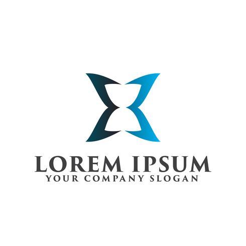 Hourglass luxury logo design concept template vector