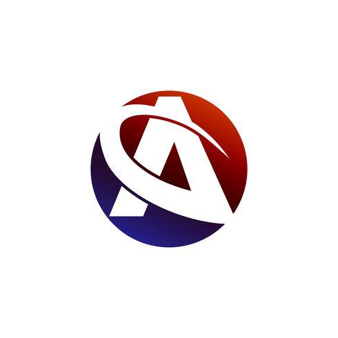 brev En rund logotyp koncept mall