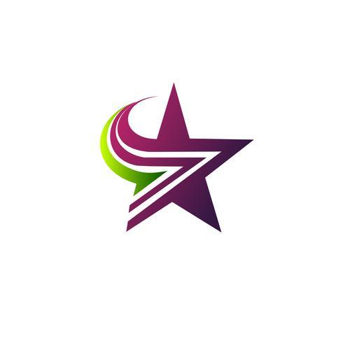 modelo de conceito de design de logotipo estrela vetor