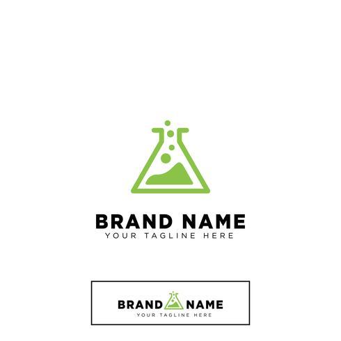 laboratory logo design template vector illustration icon element