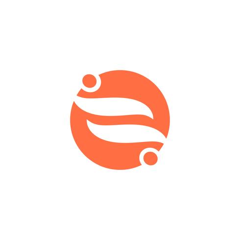 Ilustración de vector de icono humano logotipo diseño plantilla