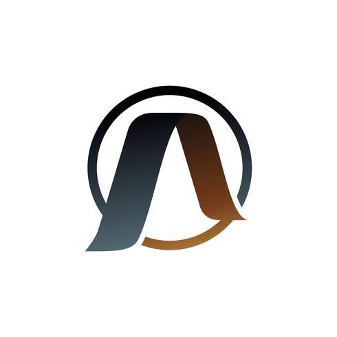 letter A logo. gold logo design concept template vector