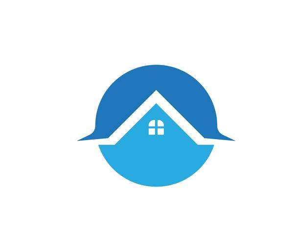 modello di icone logo e simboli di edifici domestici vettore