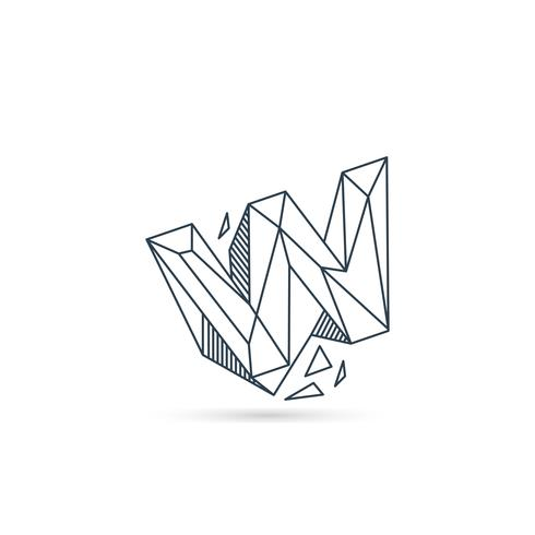 gemstone letter w logo design icon template vector element isolated