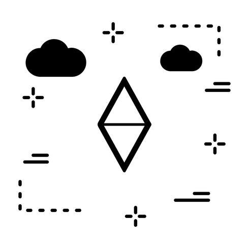 Icona di forma geometrica vettoriale