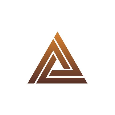 luxury letter A logo. triangle logo design concept template