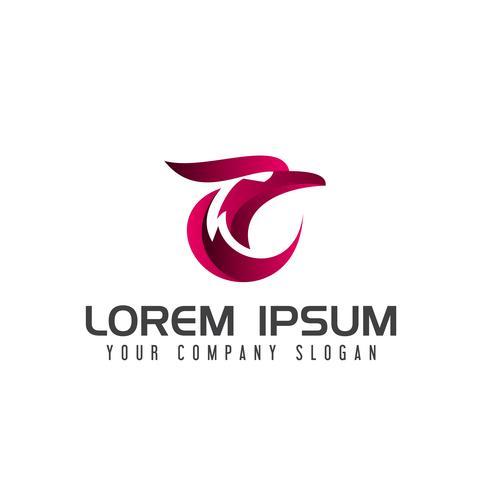 modello di concetto di design logo aquila