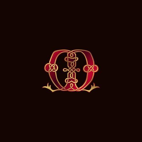 Plantilla de concepto de diseño de logotipo de decoración letra M de lujo