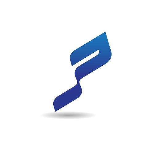 lettre p logo. modèle de concept de design de logo moderne
