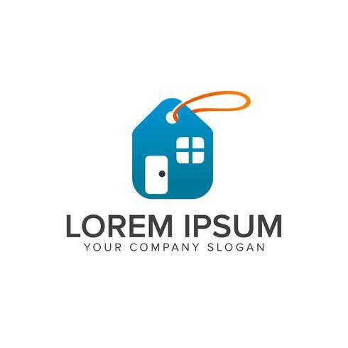 Modèle de concept de vente immobilier étiquette vente logo