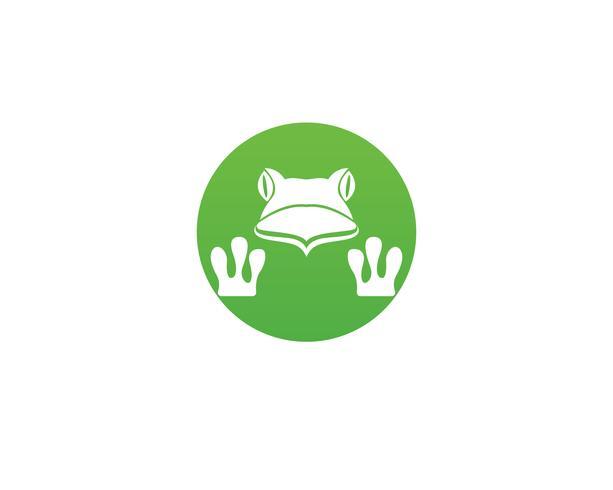 groene kikker symbolen logo sjabloon