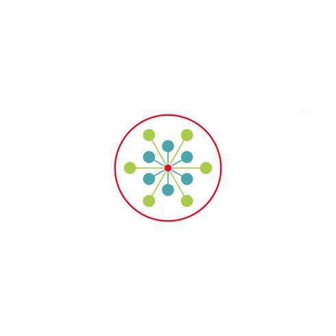 science molecule logo template vector illustration icon element