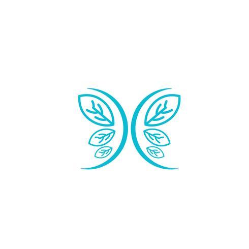 nature leaf logo design vector illustration icon element