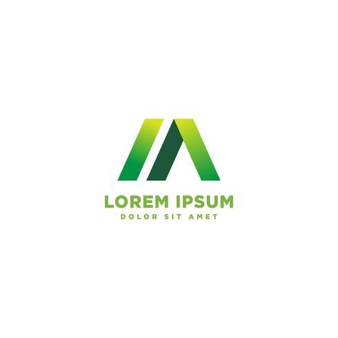 M mínimo logotipo inicial modelo vector ilustração ícone elemento isolado