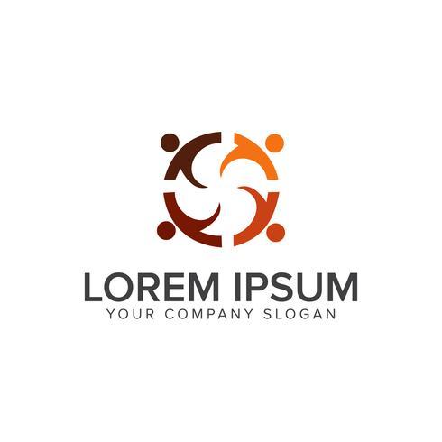modelo de conceito de design de logotipos de pessoas de educação