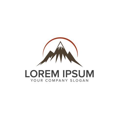 berg logo ontwerpsjabloon van het concept