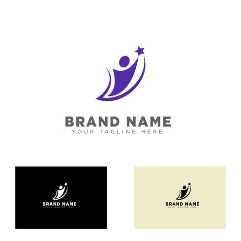 Ilustración de vector de plantilla de diseño de logotipo de grupo comunitario