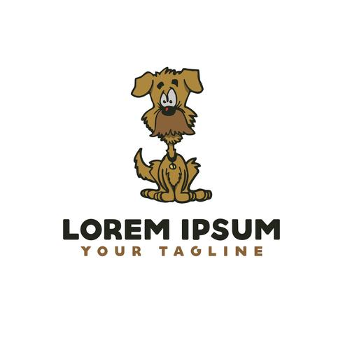 old dog logo. cartoon logo design concept template