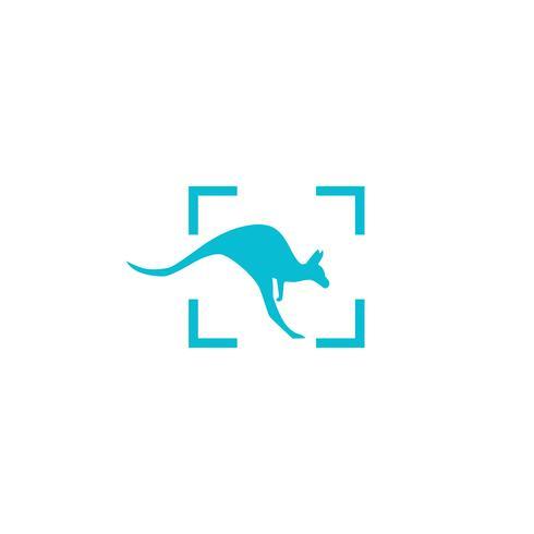 kangaroo logo design vector icon illustration element