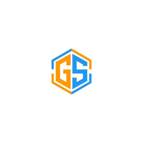 letra GS inicial logotipo plantilla vector ilustración icono elemento